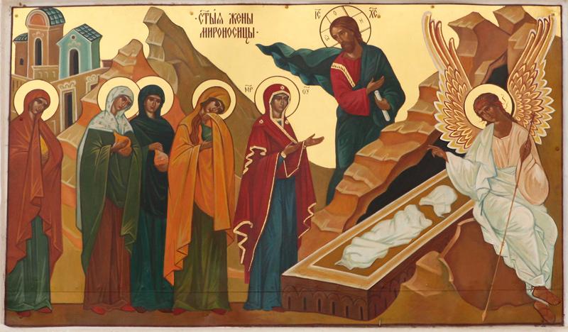 Икона Жен Мироносиц. Успенская Золотниковская пустынь