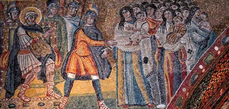 Избиение младенцев в мозаике римского храма Санта Мария Маджоре